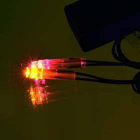 Lichte fuer Krippe: Led-Feuer mit Batterie s2