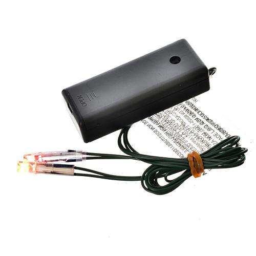 Światła do szopki: Ogień led na baterie 1