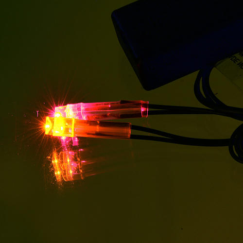 Światła do szopki: Ogień led na baterie 2