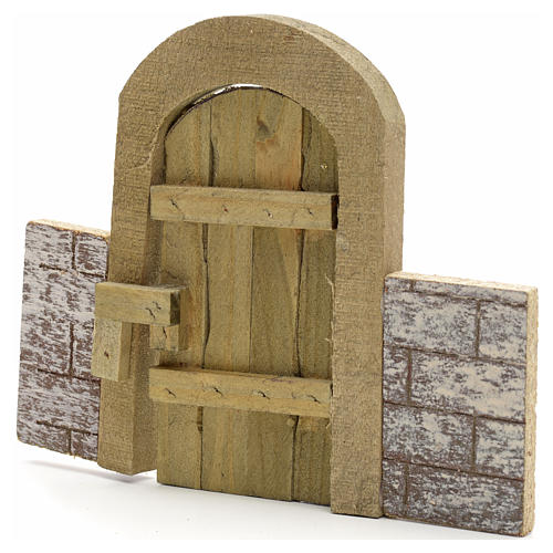 Nativity set accessory, arch gate with wall 1