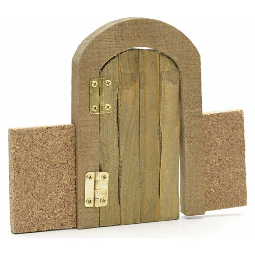 Nativity set accessory, arch gate with wall 2