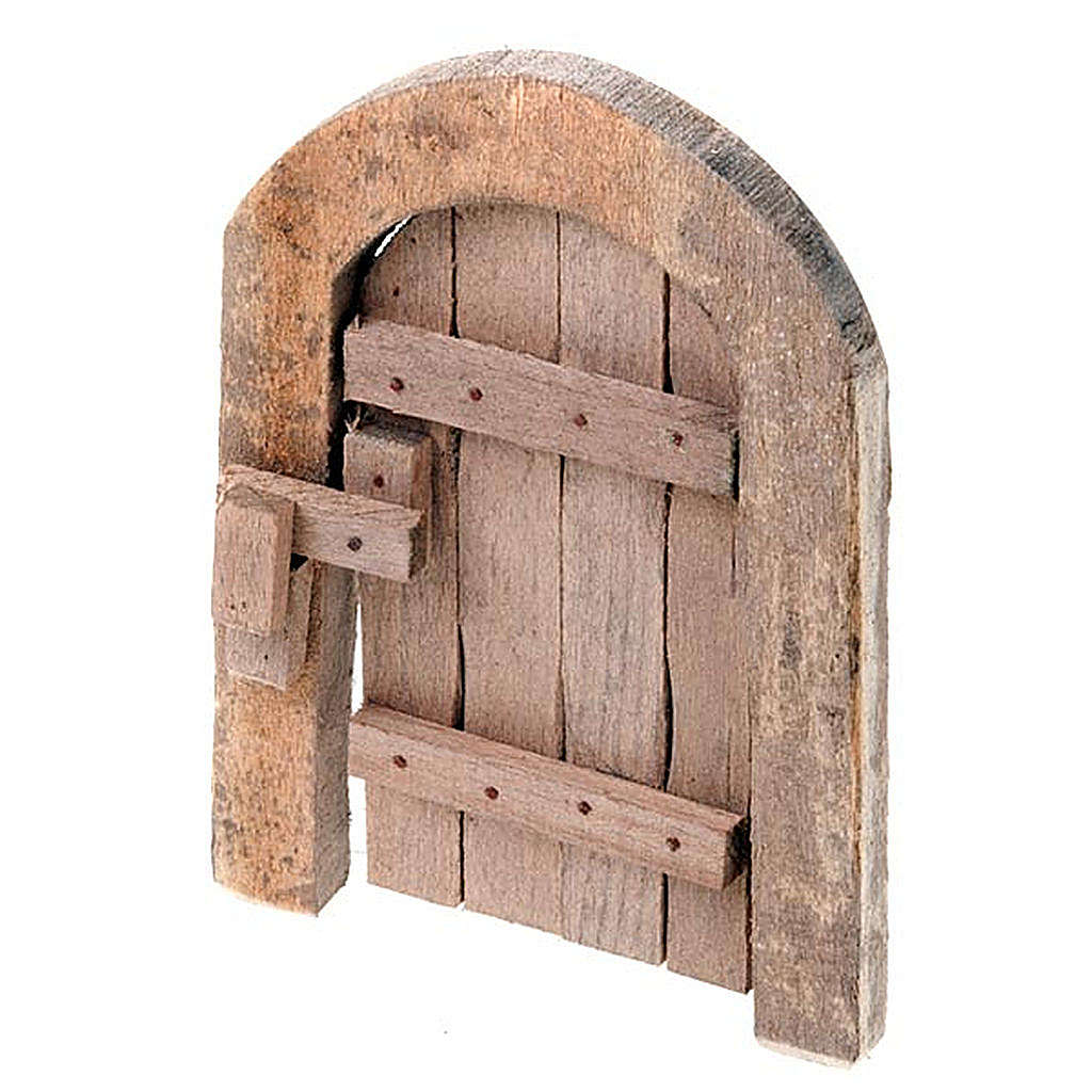 Nativity Set Accessory Wood Arch Gate