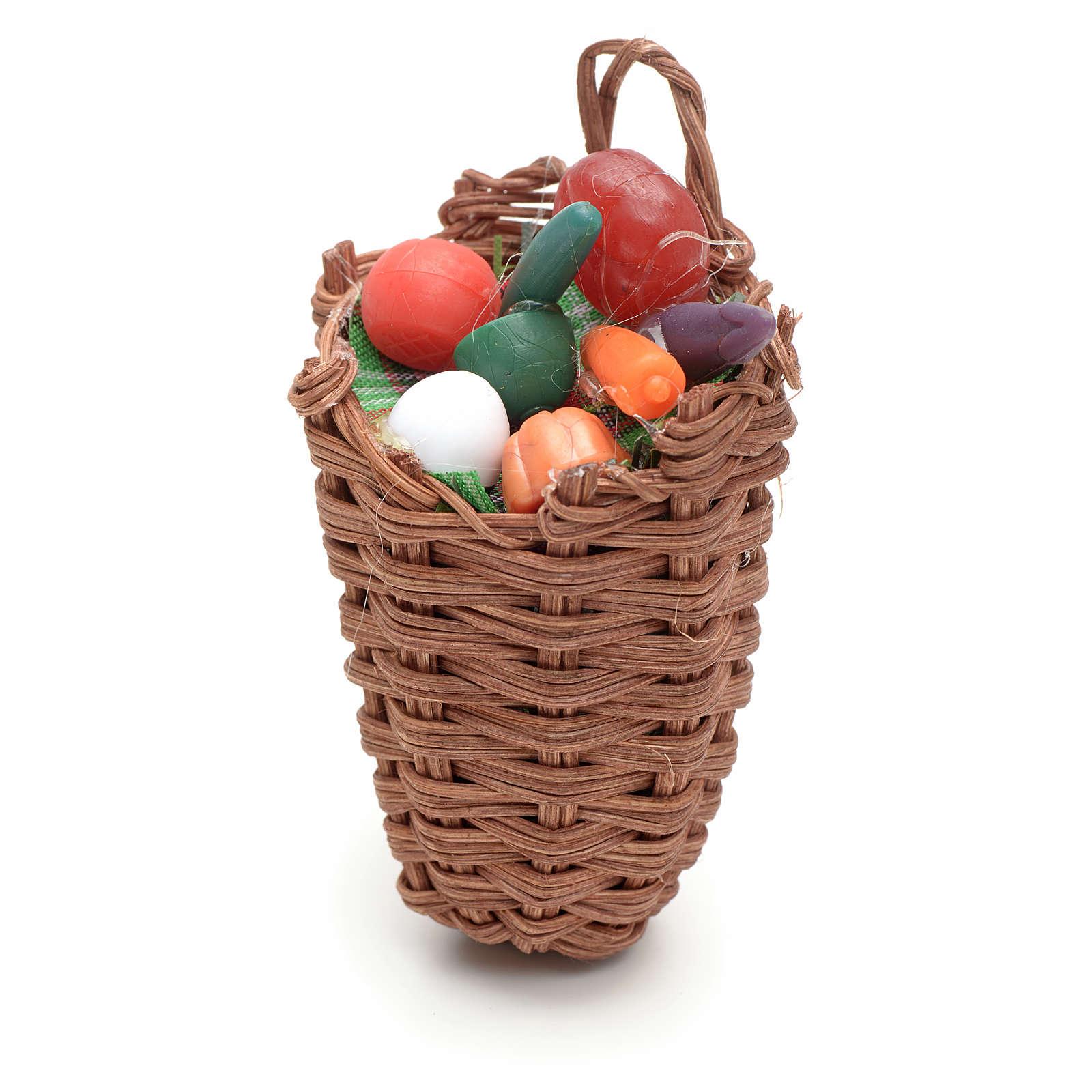 Cesto con uova per presepi fai da te 4