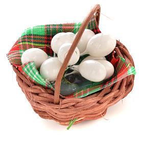 Cesto con uova per presepi fai da te s2