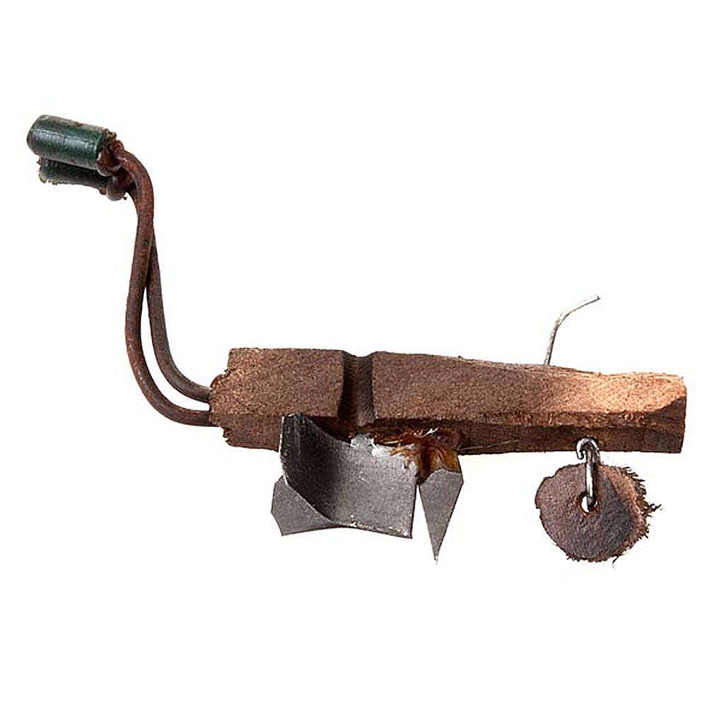 Aratro in legno e metallo per presepe fai da te 4