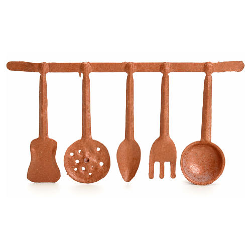 Nativity set accessory, ladles and spoons 1
