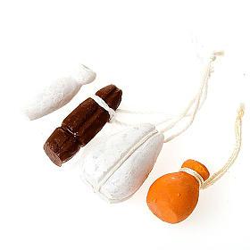 Comida em Miniatura para Presépio: Queijos para pendurar conjunto 4 peças bricolagem presépio