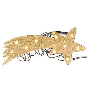 Nativity scene accessory, LED battery golden comet star s1