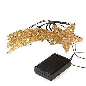 Nativity scene accessory, LED battery golden comet star s2