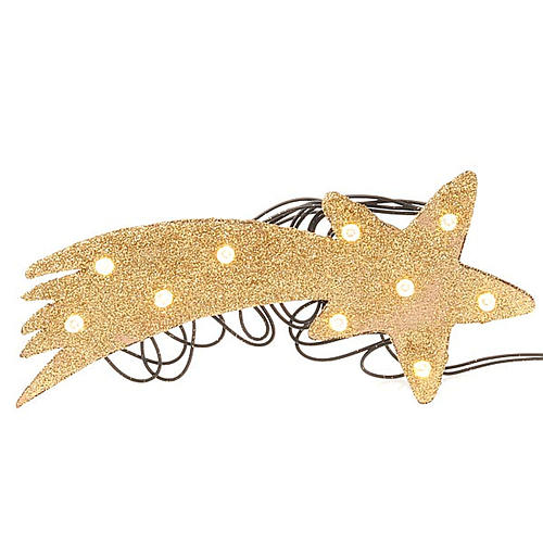Nativity scene accessory, LED battery golden comet star 1