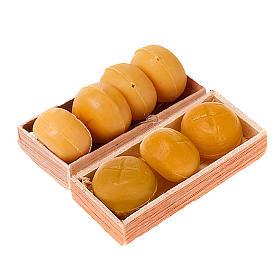 Comida em Miniatura para Presépio: Caixinha com pão bricolagem presépio