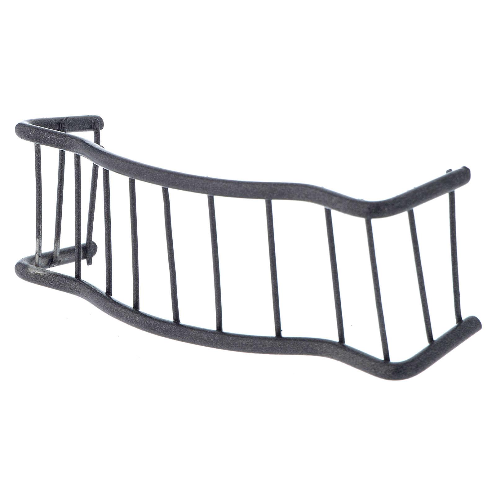 Baranda de hierro balcón 10 x 3 cm belen 4