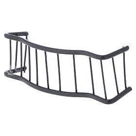 Baranda de hierro balcón 10 x 3 cm belen s2