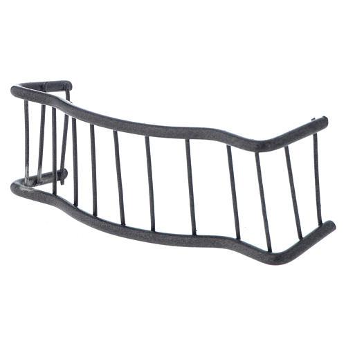 Baranda de hierro balcón 10 x 3 cm belen 2