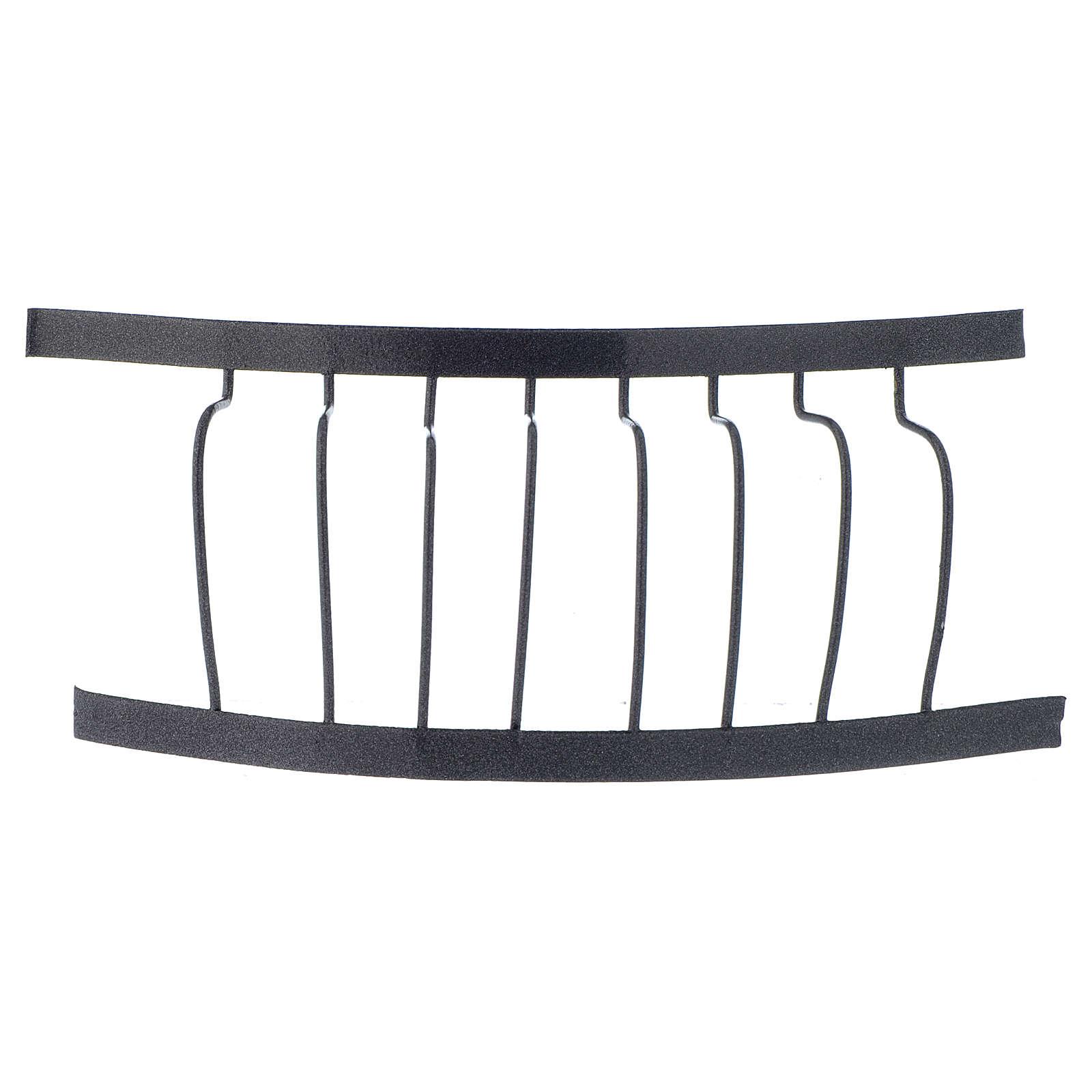 Baranda de hierro balcón 10 x 5 cm belen 4