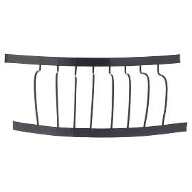 Ringhiera in ferro balcone 10x5 cm presepe fai da te s1