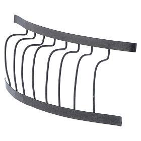 Ringhiera in ferro balcone 10x5 cm presepe fai da te s2