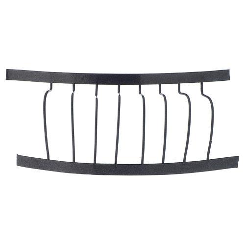 Ringhiera in ferro balcone 10x5 cm presepe fai da te 1
