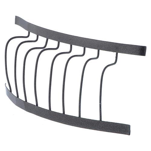 Ringhiera in ferro balcone 10x5 cm presepe fai da te 2