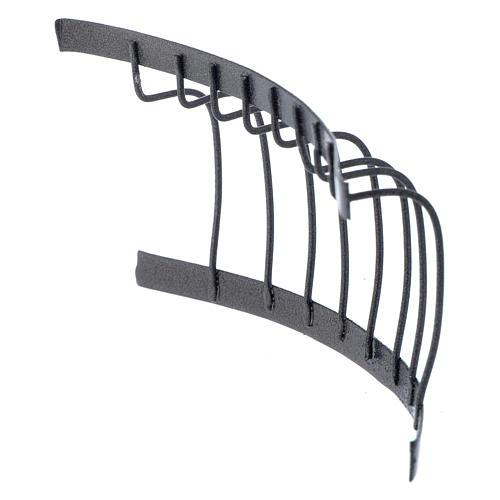 Ringhiera in ferro balcone 10x5 cm presepe fai da te 3