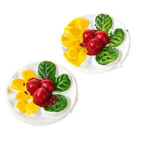 Comida em Miniatura para Presépio: Prato com comida miniatura presépio