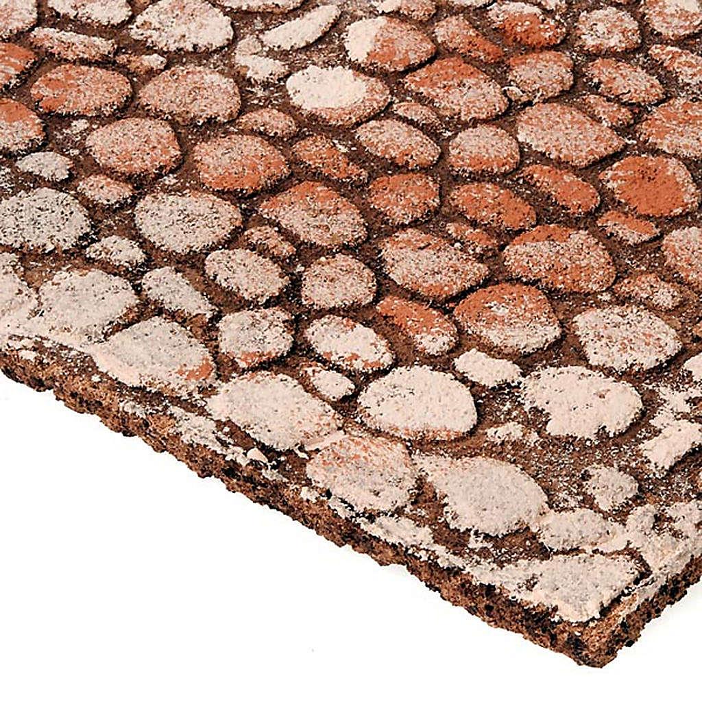 Panel de corcho tipo piedras para el pesebre 4