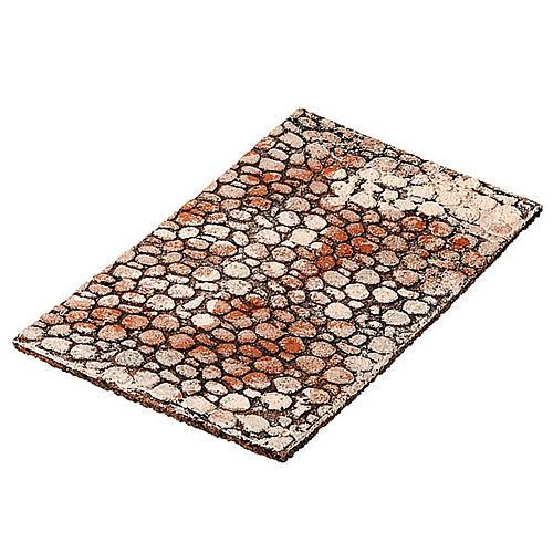 Panel de corcho tipo piedras para el pesebre 1
