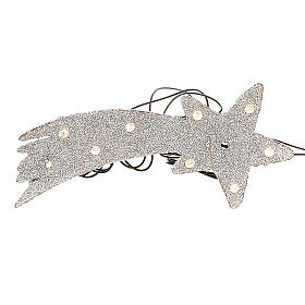 Nativity scene accessory, LED battery silver comet star s1