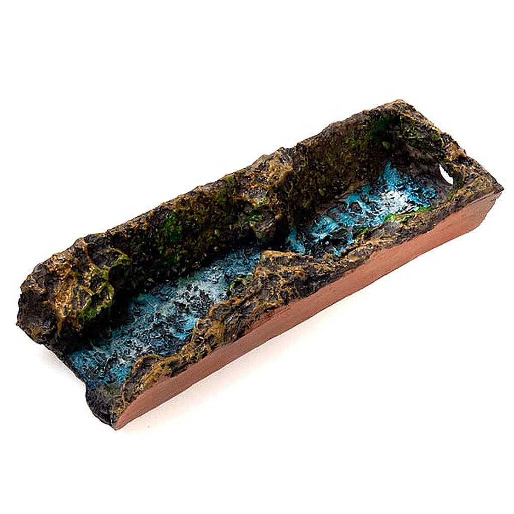 Cascata presépio 17 cm com bomba de água 2,5W e ribeira 4