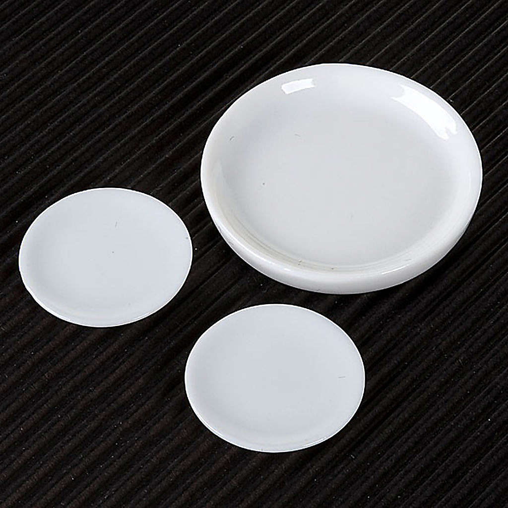 Nativity accessory, porcelain plates, set of 3pcs 4