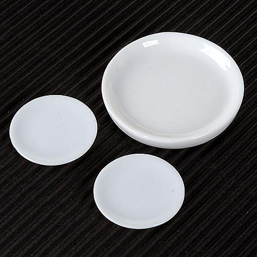 Nativity accessory, porcelain plates, set of 3pcs 2