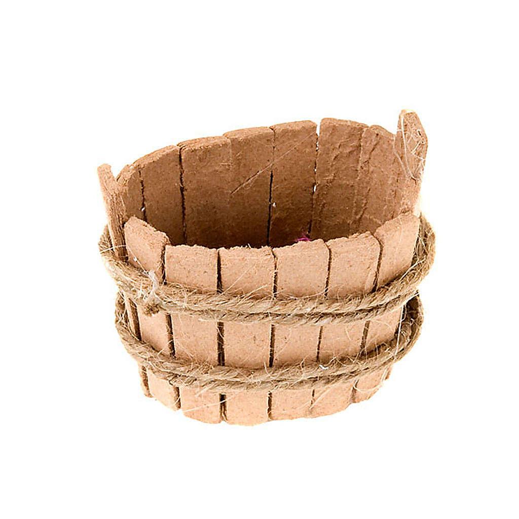 Tinozza ovale in legno per presepe 4