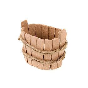 Tinozza ovale in legno per presepe s2