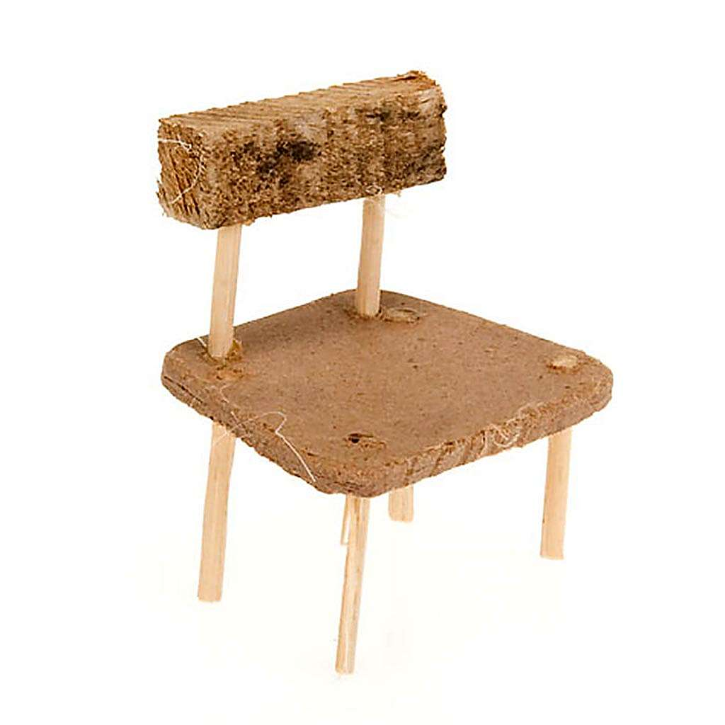 Nativity accessory, wooden chair, 5x3.5cm 4