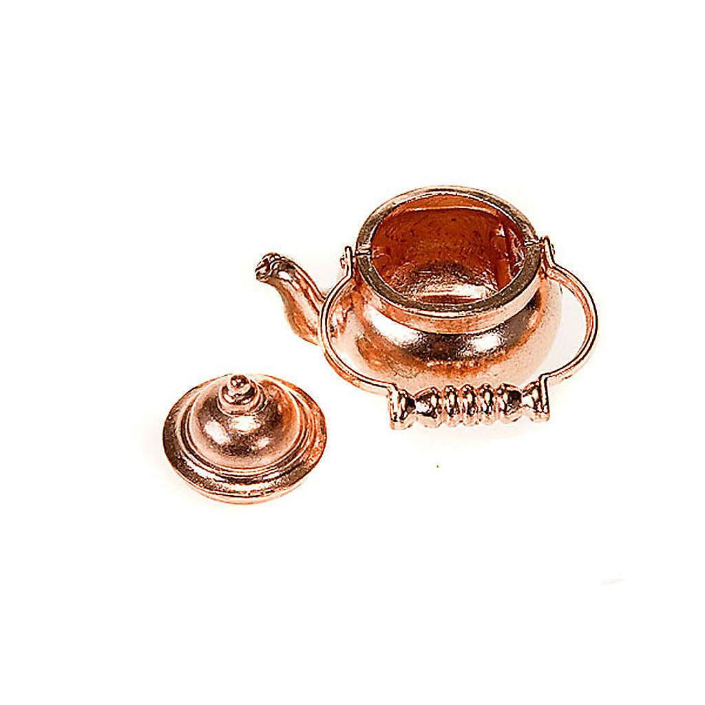 Kupferkessel fuer Tee aus Metall Krippe 4