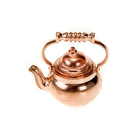 Home accessories miniatures: Metal teapot for do-it-yourself nativities