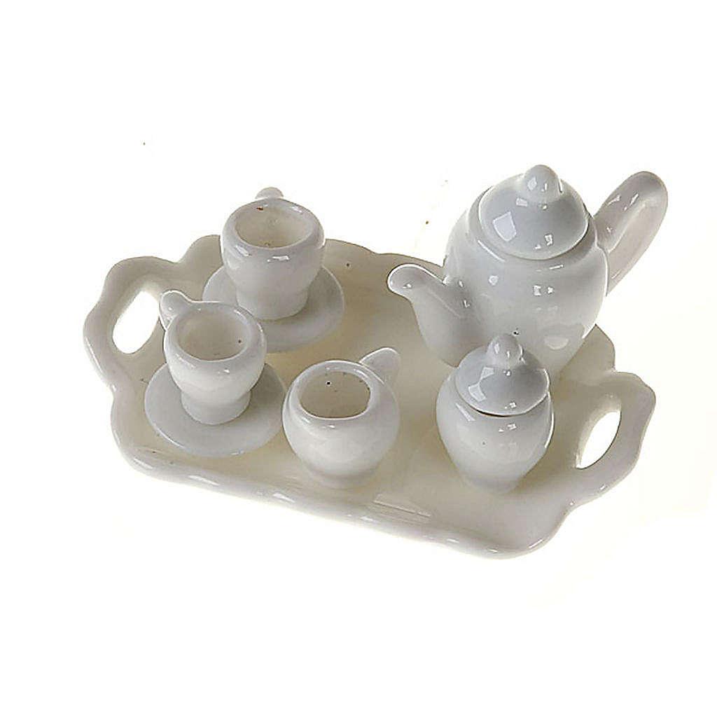 Serwis do kawy z porcelany białej szopka zrób to sam 4