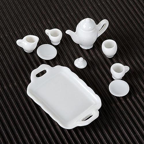 Serviço de café em porcelana branca bricolagem presépio 2