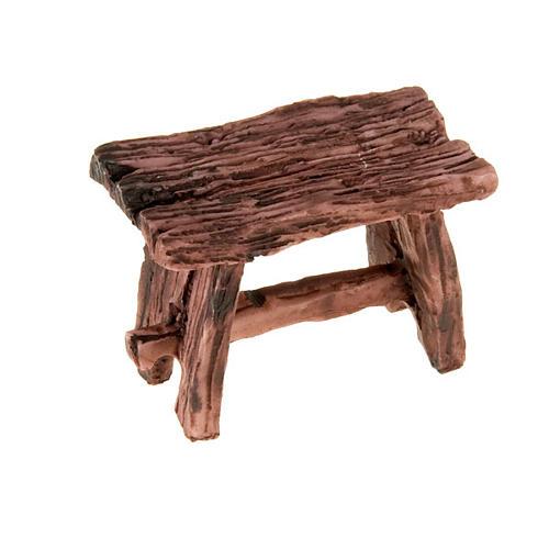 Tisch aus Harz, Holz-farbig Krippe 1