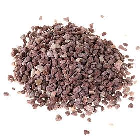 Grava para el belén grano grande marrón s1