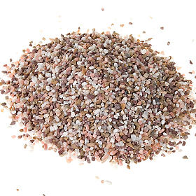 Ghiaia per presepe fai da te grano piccolo misto s1