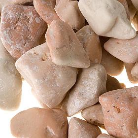 Nativity accessory, natural big pebbles, ivory colour s2