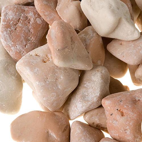 Nativity accessory, natural big pebbles, ivory colour 2