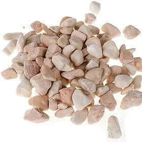 Nativity accessory, natural big pebbles, ivory colour s1