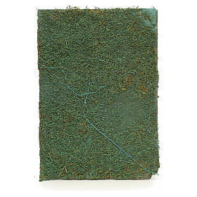 Nativity accessory, paper sheet with green moss s1