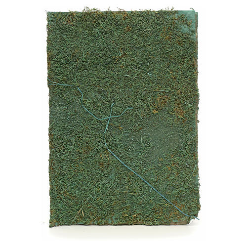 Nativity accessory, paper sheet with green moss 1
