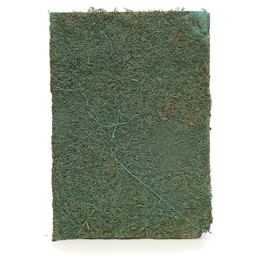 Feuille avec mousse verte pour crèche 4