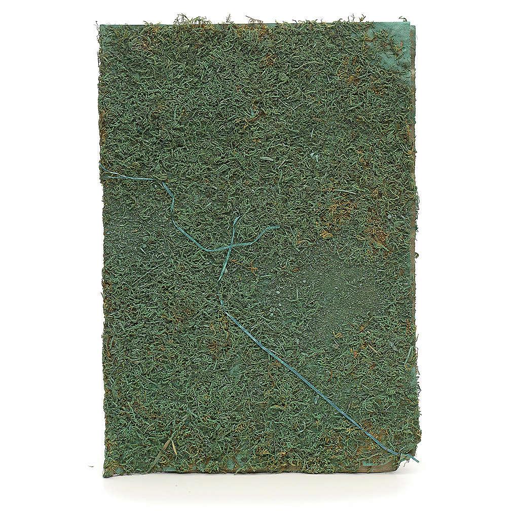 Foglio con muschio verde per presepe fai da te 4