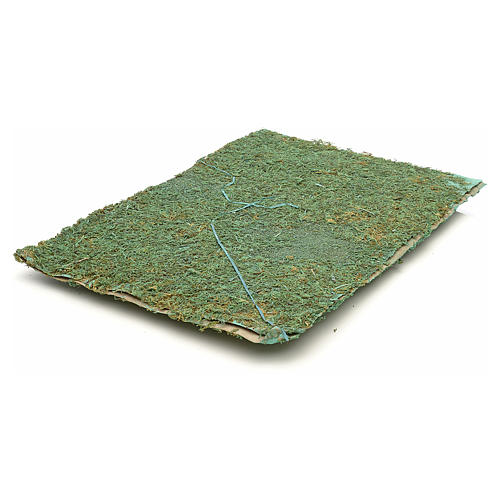 Nativity accessory, paper sheet with green moss 2