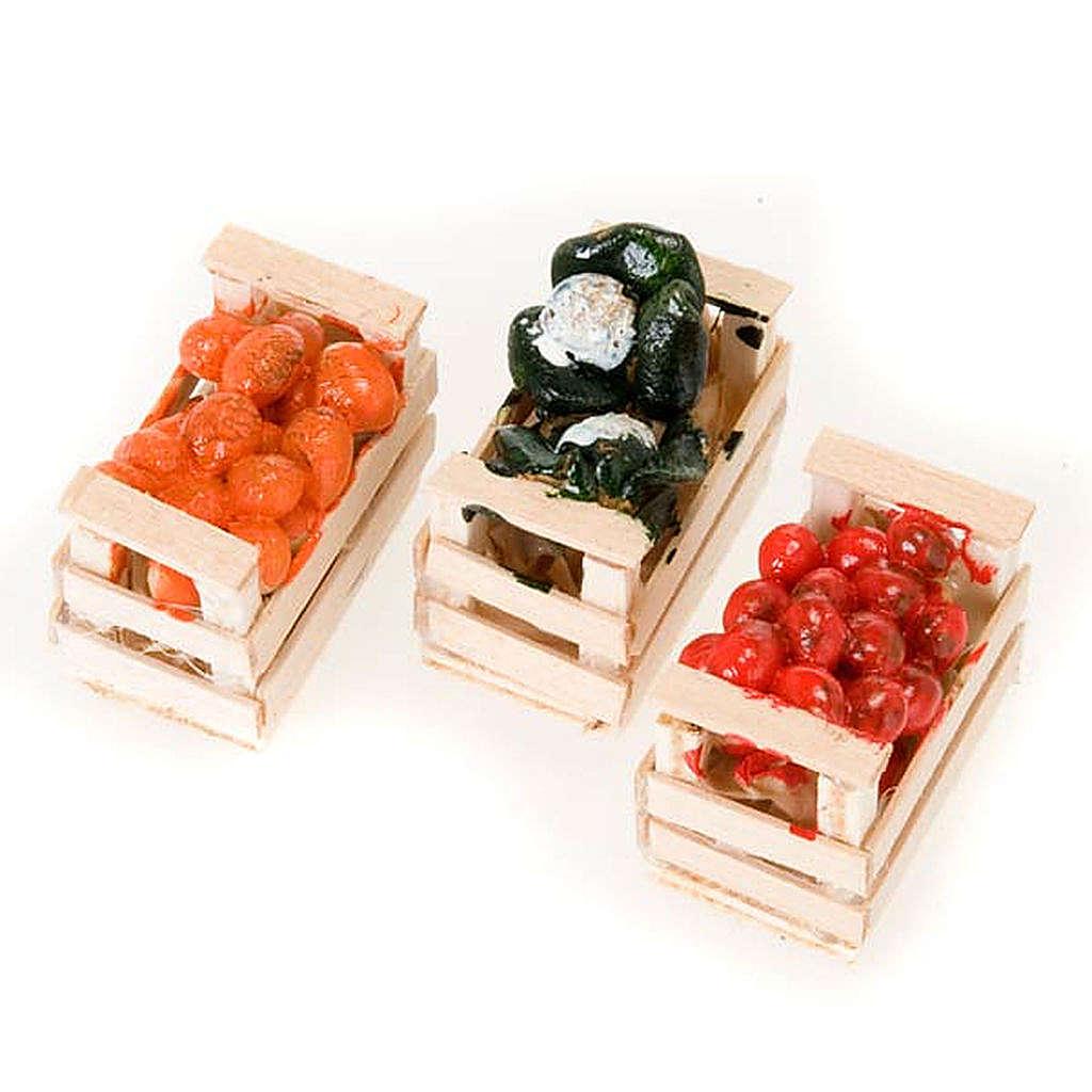 Cassetta cibo assortito presepe terracotta 4